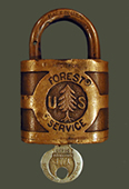 Forest Service lock-key