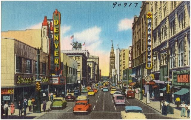 Denver 16th Street 1950s